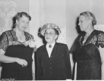 1948, Hudson Shore Labor School Dinner. ER with B. Hillman, vice president, ACWA, H.W. Smith, school director. A. Archer photographer, Franklin D. Roosevelt Presidential Library and Museum.