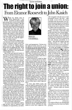 Editorial by Brigid O'Farrell